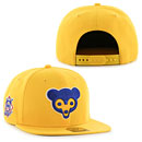 Chicago Cubs Gold Cooperstown Sure Shot Snapback Adjustable Cap