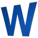 Chicago Cubs 3D 'W' Hand Foam Logo Sign With Strap
