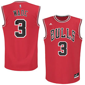 Chicago Bulls Dwyane Wade Red Replica Jersey