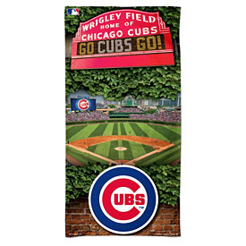 Chicago Cubs Wrigley Field Beach Towel