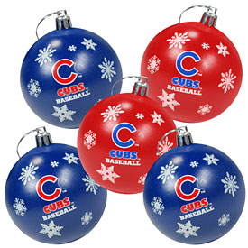 Chicago Cubs 5-Pack Shatterproof Ball Ornaments