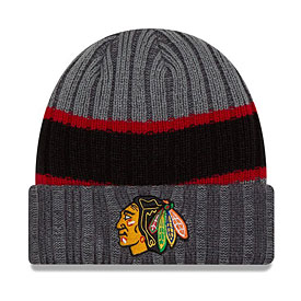 Chicago Blackhawks Youth Chiller Striped Cuffed Knit Hat