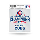Chicago Cubs 2016 Central Division Champions Static Cling
