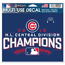 Chicago Cubs 2016 NL Central Division Champions 4'' x 6'' Multi-Use Decal