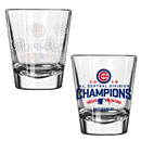 Chicago Cubs 2016 NL Central Division Champions 2oz. Collectors Glass
