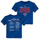 Chicago Cubs Preschool 2016 Postseason Mission October Roster T-Shirt