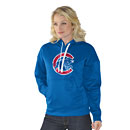 Chicago Cubs Ladies Walking Bear Poly Tech Hooded Sweatshirt