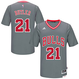 Chicago Bulls Jimmy Butler Gray Pride Swingman Jersey