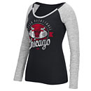Chicago Bulls Ladies Basketball Script Distressed Long Sleeve T-Shirt