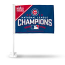 Chicago Cubs 2016 NL Champs Car Flag