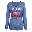 Chicago Cubs 2016 NL Champs Scoop Neck Long Sleeve T-Shirt
