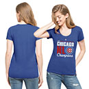 Chicago Cubs Ladies 2016 NL Champs Scoop Club T-Shirt