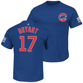 Chicago Cubs Kris Bryant 2016 World Series Champions Name and Number T-Shirt