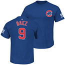 Chicago Cubs Javier Baez 2016 World Series Champions Name and Number T-Shirt