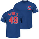 Chicago Cubs Jake Arrieta 2016 World Series Champions Name and Number T-Shirt