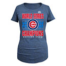 Chicago Cubs Ladies 2016 World Series Champions Scoop Neck Tri-Blend T-Shirt