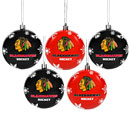 Chicago Blackhawks 5-Pack Shatterproof Ball Ornaments