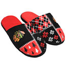 Chicago Blackhawks Ugly Sweater Slippers