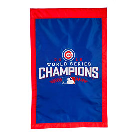 """Chicago Cubs 2016 World Series Champions 28"""" x 44"""" Applique House Flag"""