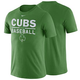 Chicago Cubs Nike Green Practice T-Shirt