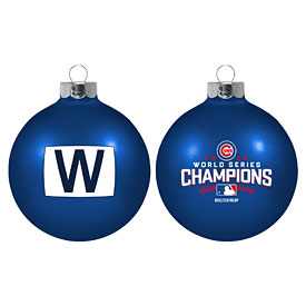 Chicago Cubs 2016 World Series Champions W Flag Ornament