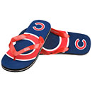 Chicago Cubs Youth Double Logo Flip Flops
