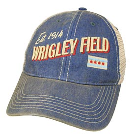 Wrigley Field Chicago Postcard Trucker Snapback Adjustable Cap