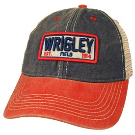 Wrigley Field Plate Trucker Snapback Adjustable Cap