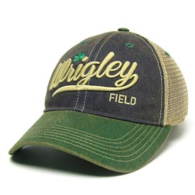 Wrigley Field Navy Plotter Trucker Snapback Adjustable Cap