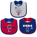 Chicago Cubs Fair Catch 3 Pack of Baby Bibs