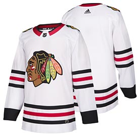 Chicago Blackhawks adidas Road Authentic Blank Jersey