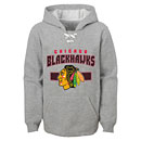 Chicago Blackhawks Youth Line Change Sueded Hooded Sweatshirt