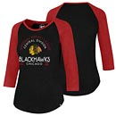 Chicago Blackhawks Ladies 47 Club Tri-Blend Raglan T-Shirt