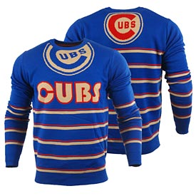 Chicago Cubs Retro Stripe Ugly Sweater