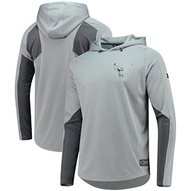 Chicago Bulls Under Armour Authentic Pinnacle Warm-Up Pullover Performance Hooded Sweatshirt