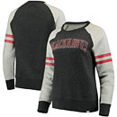 Chicago Blackhawks Ladies True Classics Fleece Crew Pullover Sweatshirt