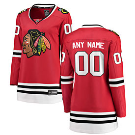 Chicago Blackhawks Ladies Customized Home Breakaway Jersey w/ Authentic Lettering