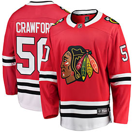 Chicago Blackhawks Corey Crawford Home Breakaway Jersey w  Authentic  Lettering 64e3538bb