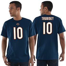 Chicago Bears Mitchell Trubisky Eligible Receiver Name and Number T-Shirt