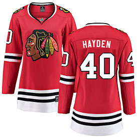 Chicago Blackhawks John Hayden Ladies Home Breakaway Jersey w/ Authentic Lettering