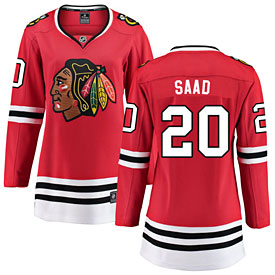 Chicago Blackhawks Brandon Saad Ladies Home Breakaway Jersey w/ Authentic Lettering