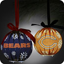 Chicago Bears 6-Piece LED Boxed Ornament Set