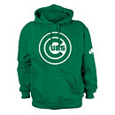 Chicago Cubs St. Patrick's Day Bullseye Hooded Sweatshirt