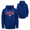 Chicago Cubs Youth Team Drive On-Field Authentic Fleece Hooded Sweatshirt