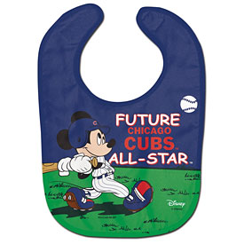 Chicago Cubs Mickey Mouse Baby Bib
