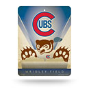 Chicago Cubs Plastic Cooperstown Angry Bear Sign