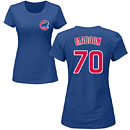 Chicago Cubs Joe Maddon Ladies Name and Number T-Shirt