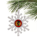 Chicago Blackhawks Snowflake Ornament