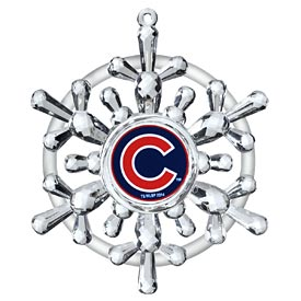 Chicago Cubs Snowflake Ornament