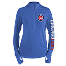 Chicago Cubs Ladies Knit 1/2 Zip Pullover Sweater
